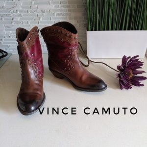 Vince Camuto Western/Cowgirl Leather Boots 6B